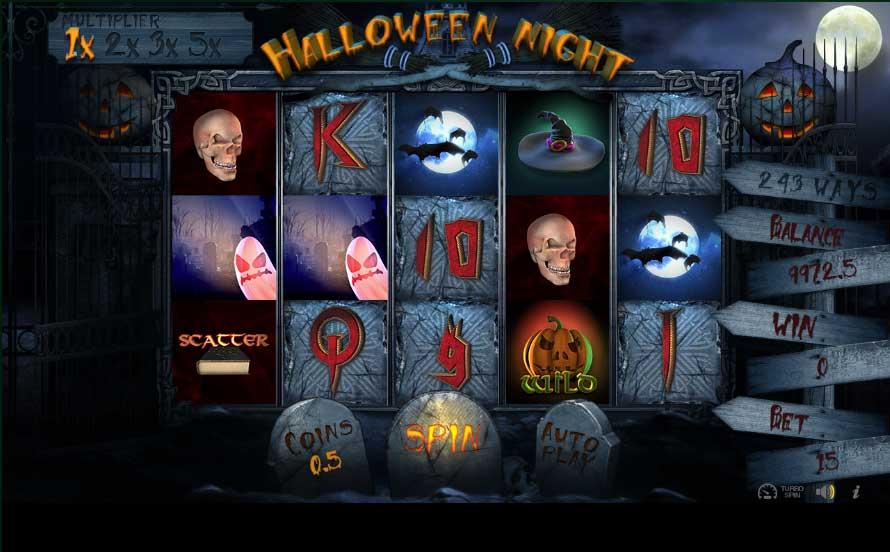 Caca niquel halloween 25 linhas gratis