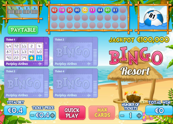 Video Bingo Resort